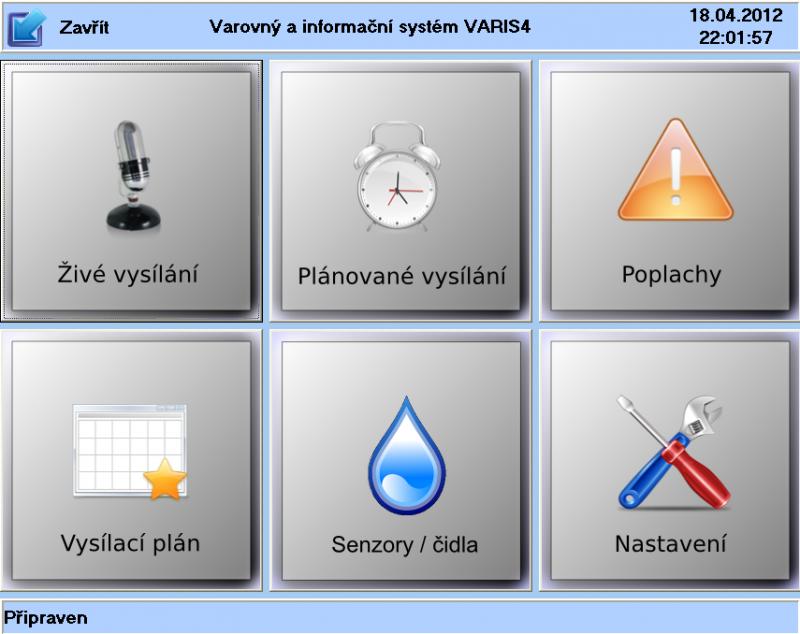 Zařízení je možné ovládat z panelu (pultu) na vnitřních dveřích řídící  skříně VARIS 4 5a8a6845fc6